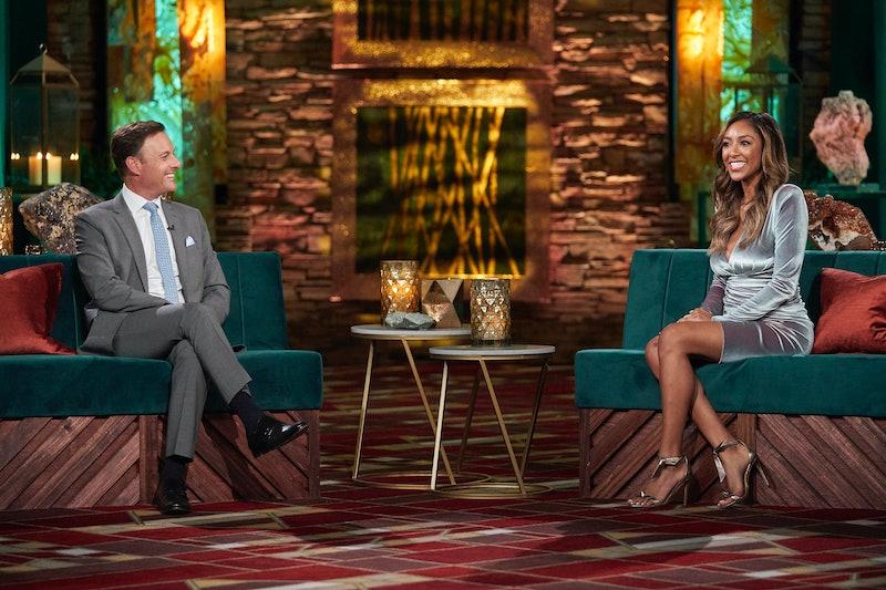 Tayshia Adams and Chris Harrison on 'The Bachelorette' via ABC Press Site