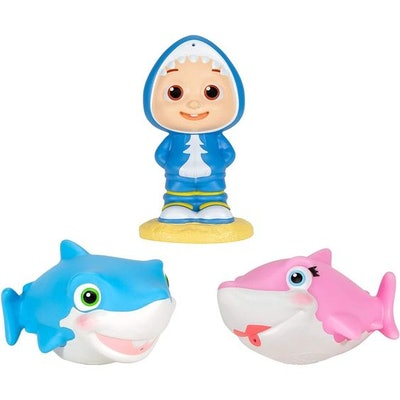 CoComelon Bath Squirters JJ And Sharks