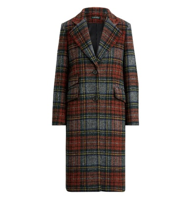 Plaid Reefer Coat