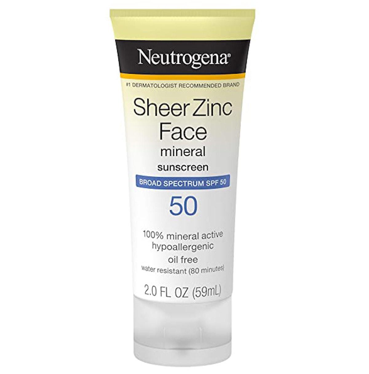 Neutrogena Sheer Zinc Face