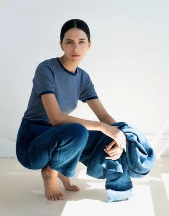 Indigo Dyed Linen Pants