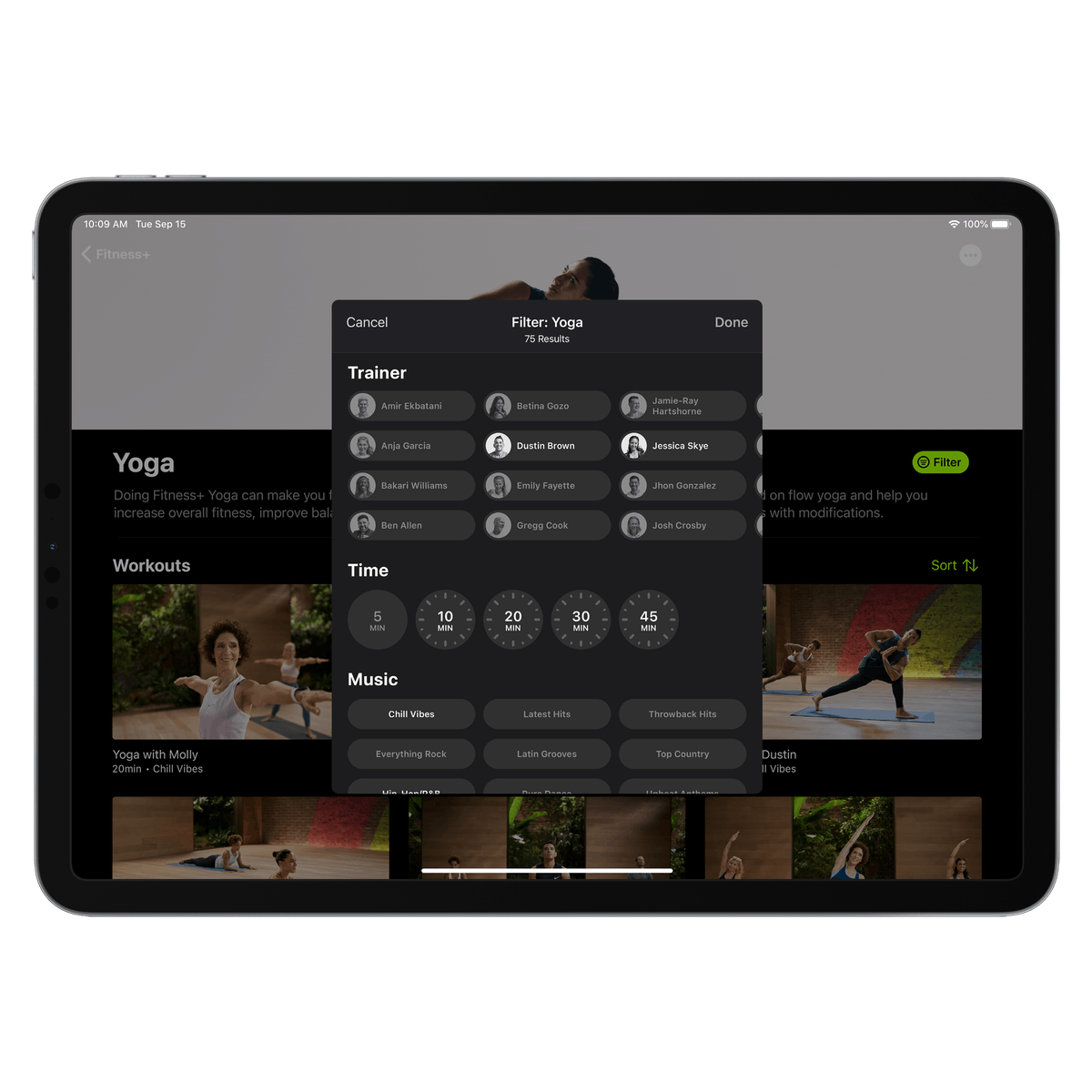 Apple's Fitness+ service let's you curate your perfect workout.