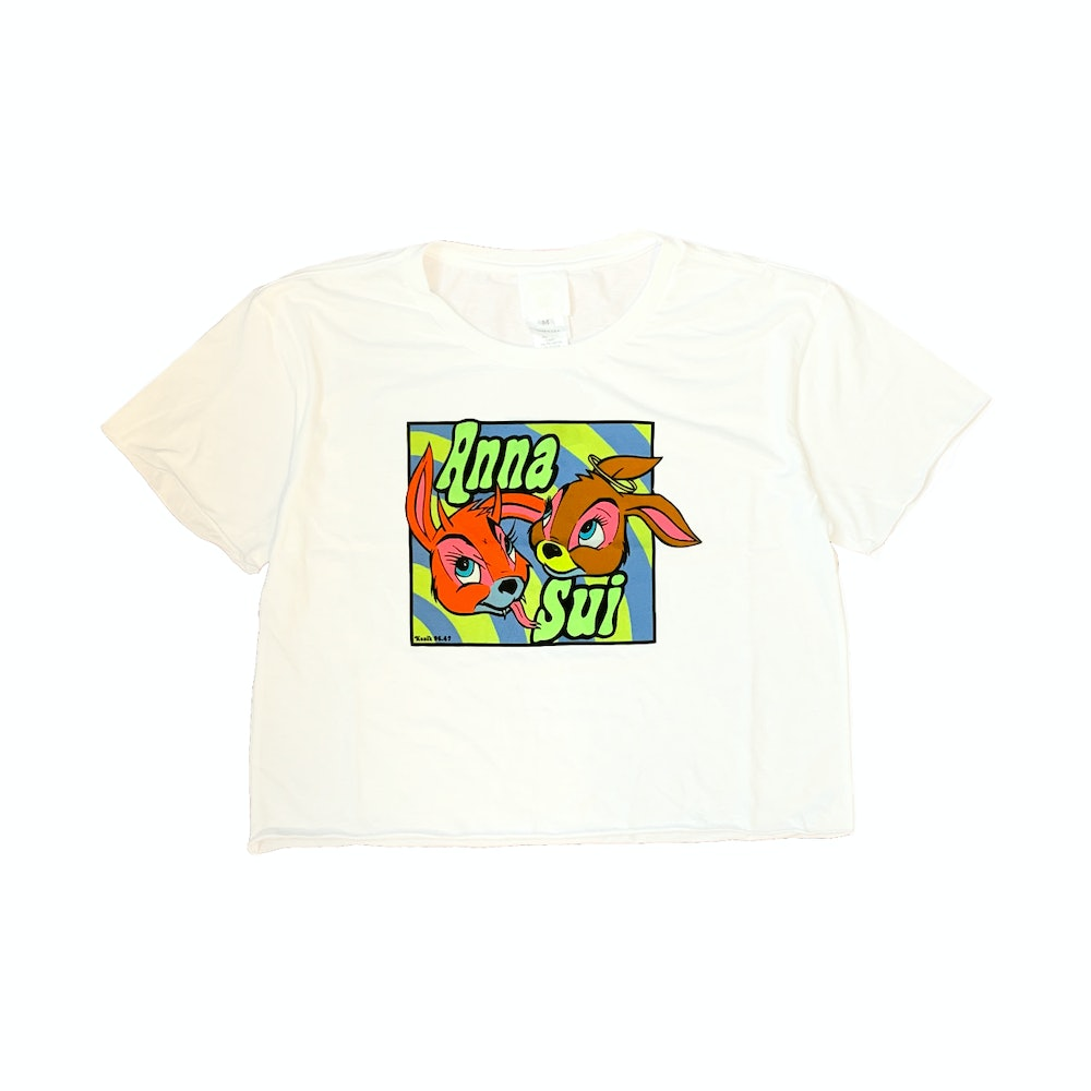 Anna Sui Cropped Bunny T-Shirt