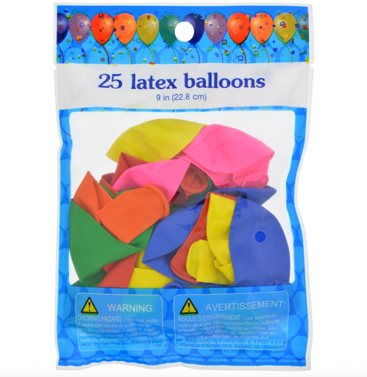 Colorful Latex Balloons, 25-ct. Bags