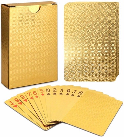 EAY Gold Playing Cards Deck of Cards 24K Gold