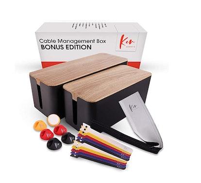 Kenberrys Cable Management Box Set (2-Pack)