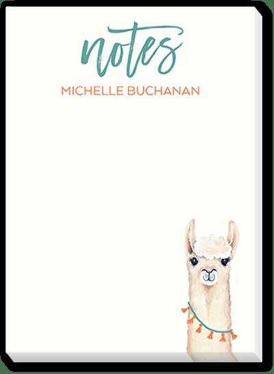 Llama Thoughts Notepad