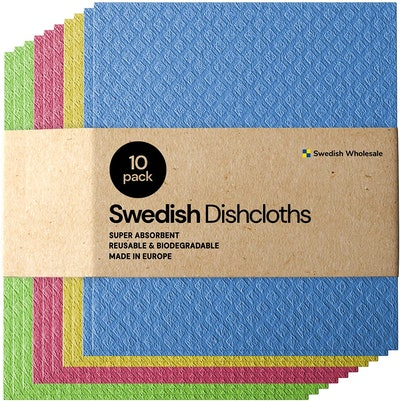 Swedish Wholesale Reusable Sponge Cloths (10 Pack)