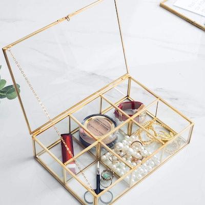 Levilan Vintage Glass Jewelry Holder