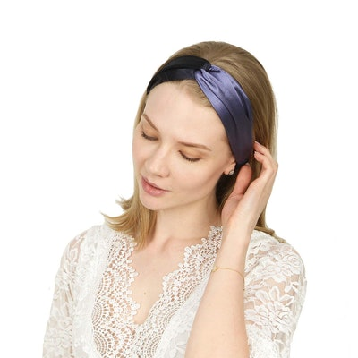 Folora Two-Tone Satin Twisted Headbands (4-Pack)