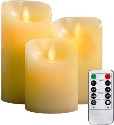YIWER Flameless Candles (Set of 3)