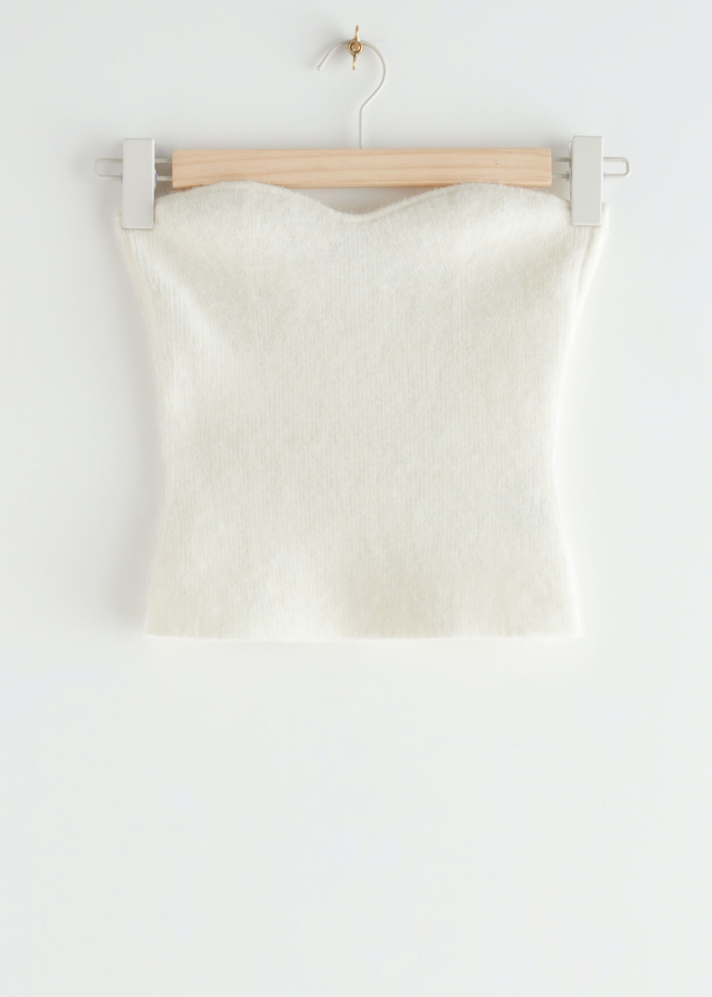 Fitted Alpaca Blend Bustier Tube Top