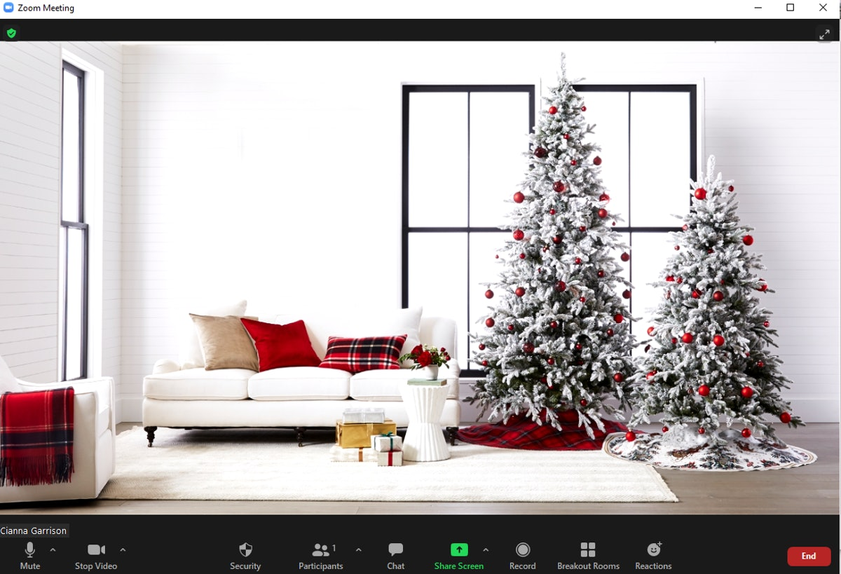 These Christmas tree Zoom backgrounds will make your calls so festive.