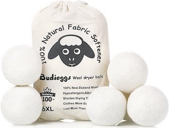 Budieggs Wool Dryer Balls (6-Pack)