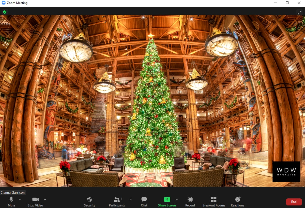 This Christmas Tree Zoom Background list includes official Disney backgrounds and more.