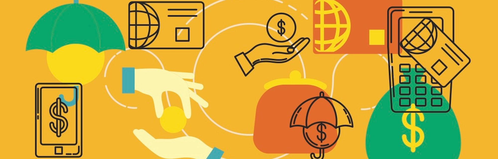 credit card perks e-commerce illustration