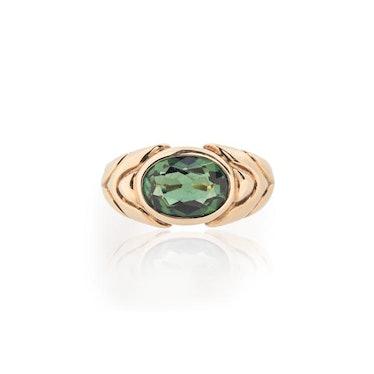 18K Gold Tourmaline Ring