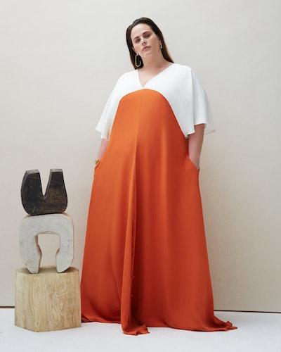 Seta Gown in Orange