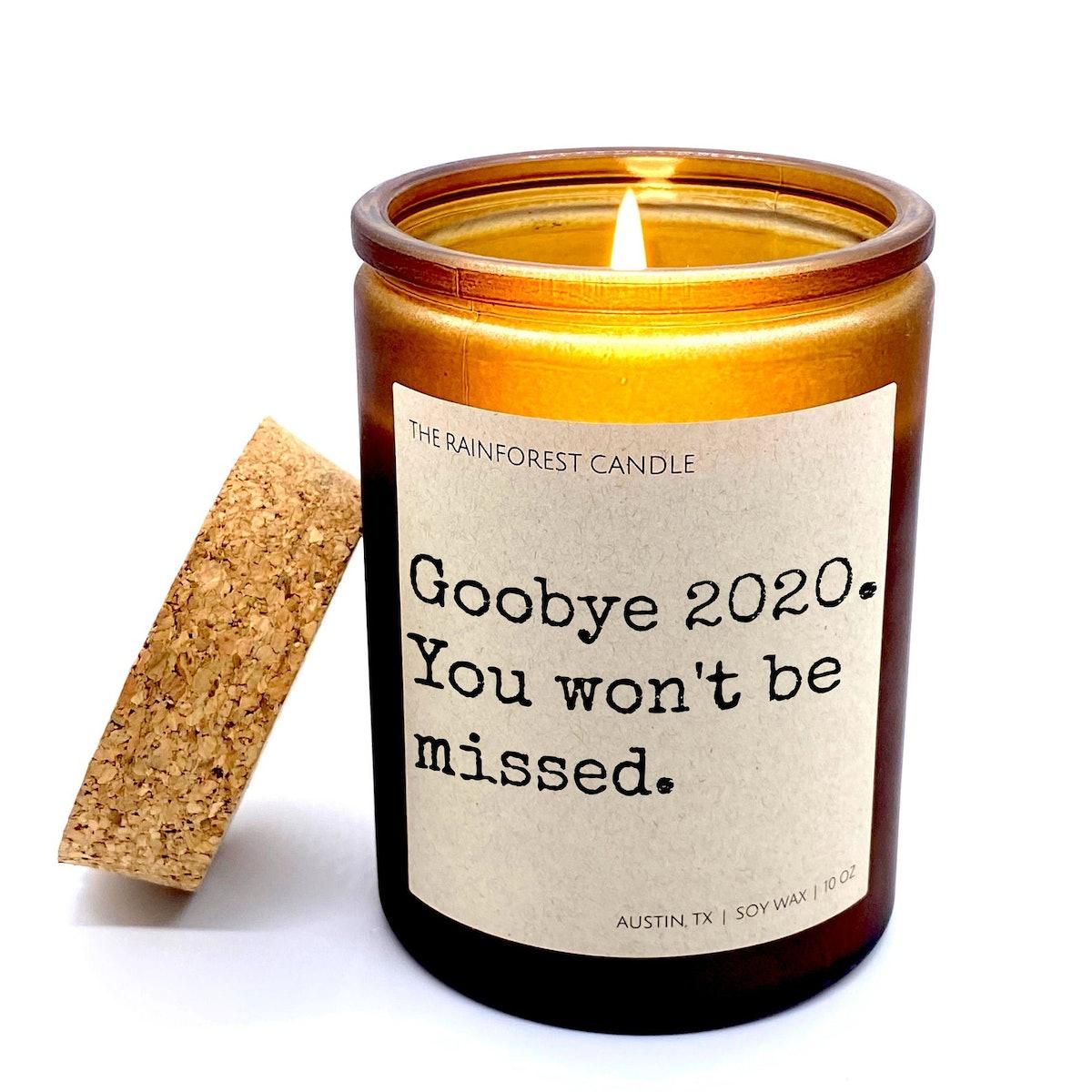 Goodbye 2020 Funny Candle