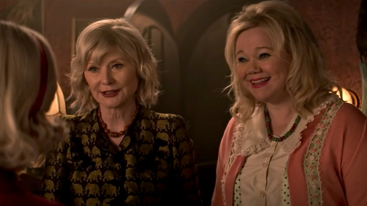The original Aunt Zelda and Aunt Hilda from 'Sabrina the Teenage Witch' in Netflix's 'Chilling Adventures of Sabrina' Part 4