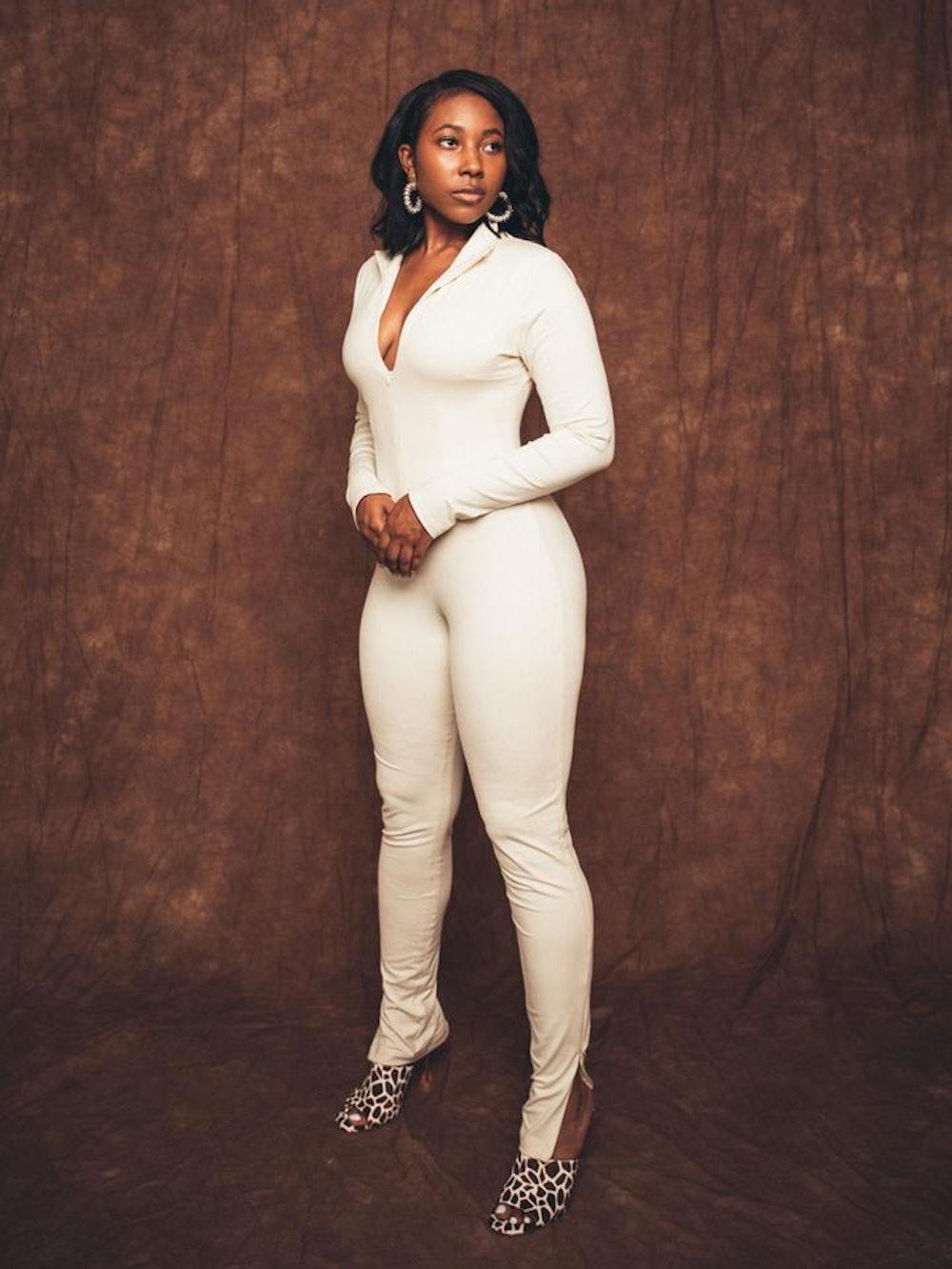 Mona Cream Corset Jumpsuit