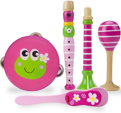 Princess Pollywog's 5-piece Wooden Instrument Set for Kids