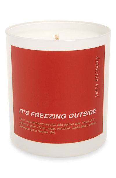 It's Freezing Outside Candle