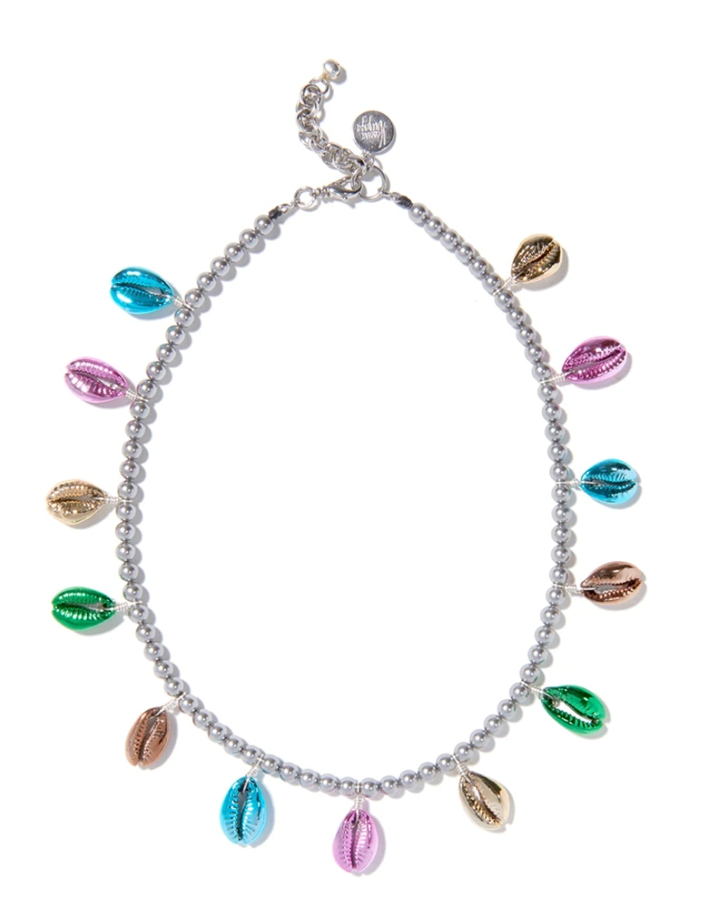 Rainbow Metallic Shell Pearl Necklace