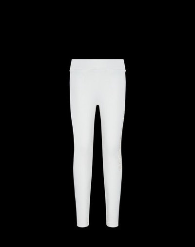 Leggings with Moncler lettering