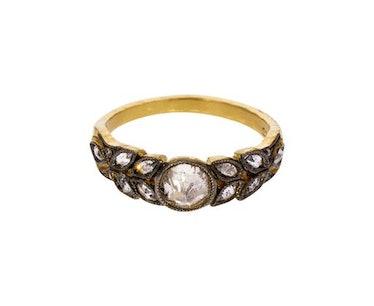 Black and White Diamond Garland Ring