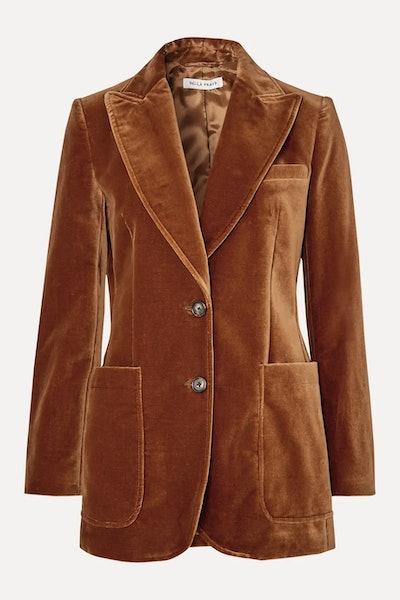 Saint James cotton-velvet blazer