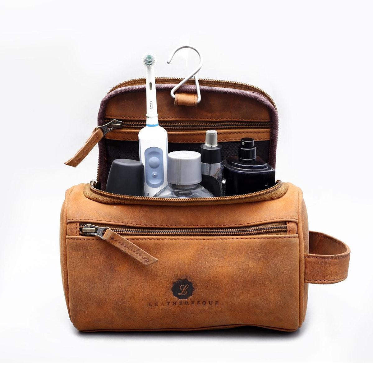 Nolita Leather Hanging Toiletry Bag