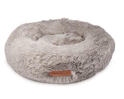 Vibrant Life Plush Donut Pet Bed