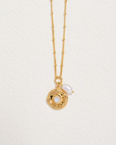 Sara Coin Pearl II Necklace