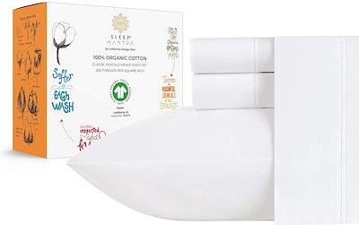 Sleep Mantra 100% Organic Cotton Bed Sheets