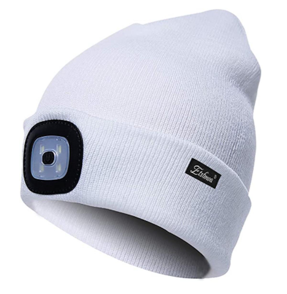 Etsfmoa LED Headlight Beanie Hat