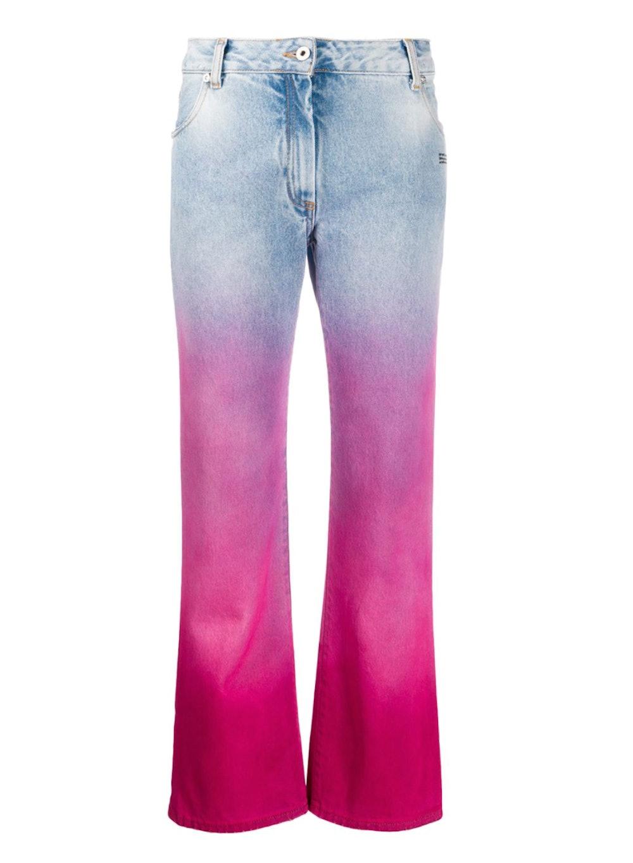 Fuchsia Shaded Jeans