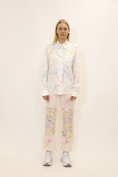 Scribble Rose Mariposa Button Up