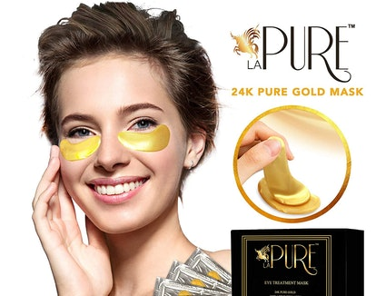 LA PURE 24K Gold Eye Treatment Masks (15 Pairs)
