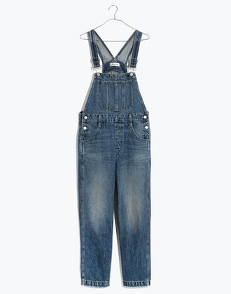 Tall Straight-Leg Overalls in Hickory Wash