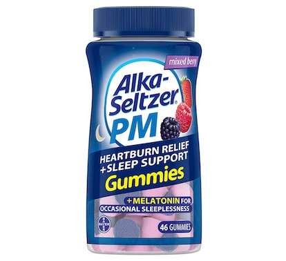 Alka-Seltzer PM Heartburn Relief + Sleep Support Gummies, 46 Count (2-Pack)