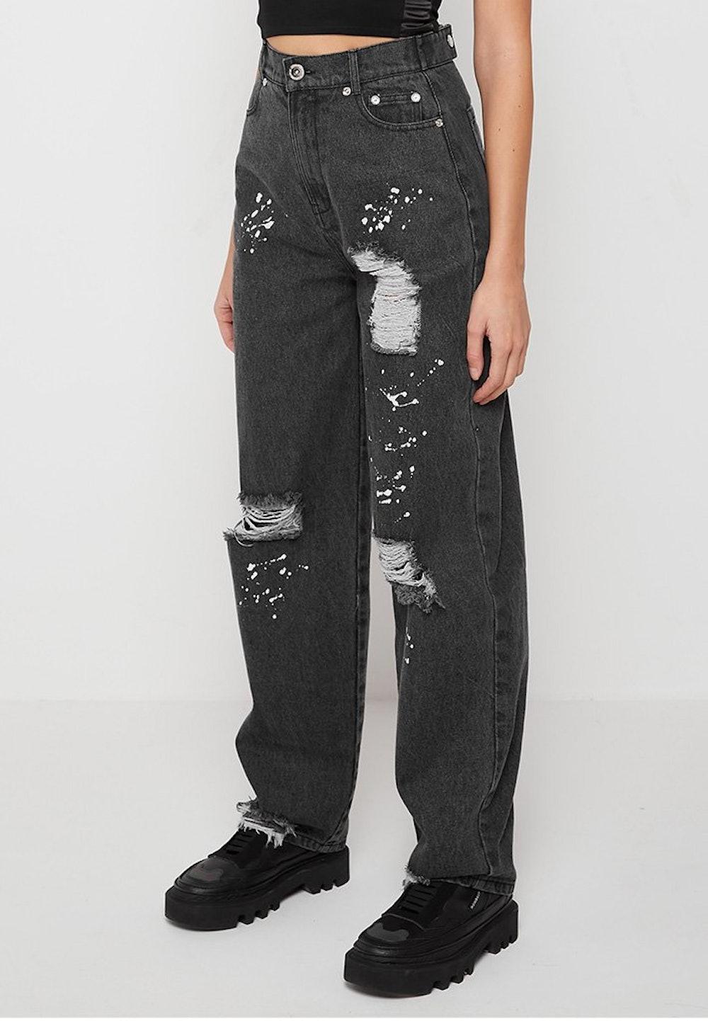 Paint Splatter Baggy Jeans