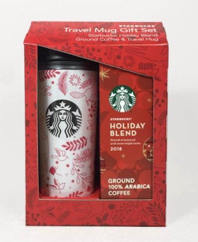 Starbucks Acrylic Travel Mug with Coffee Gift Set