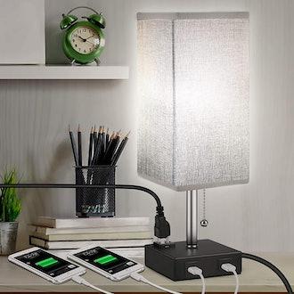 MOICO USB Bedside Table Lamp