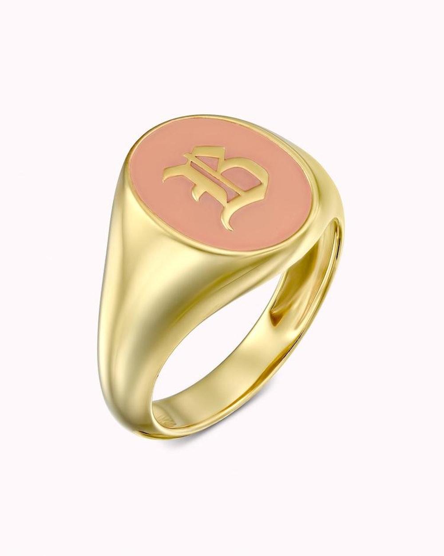 Enamel Signet Ring