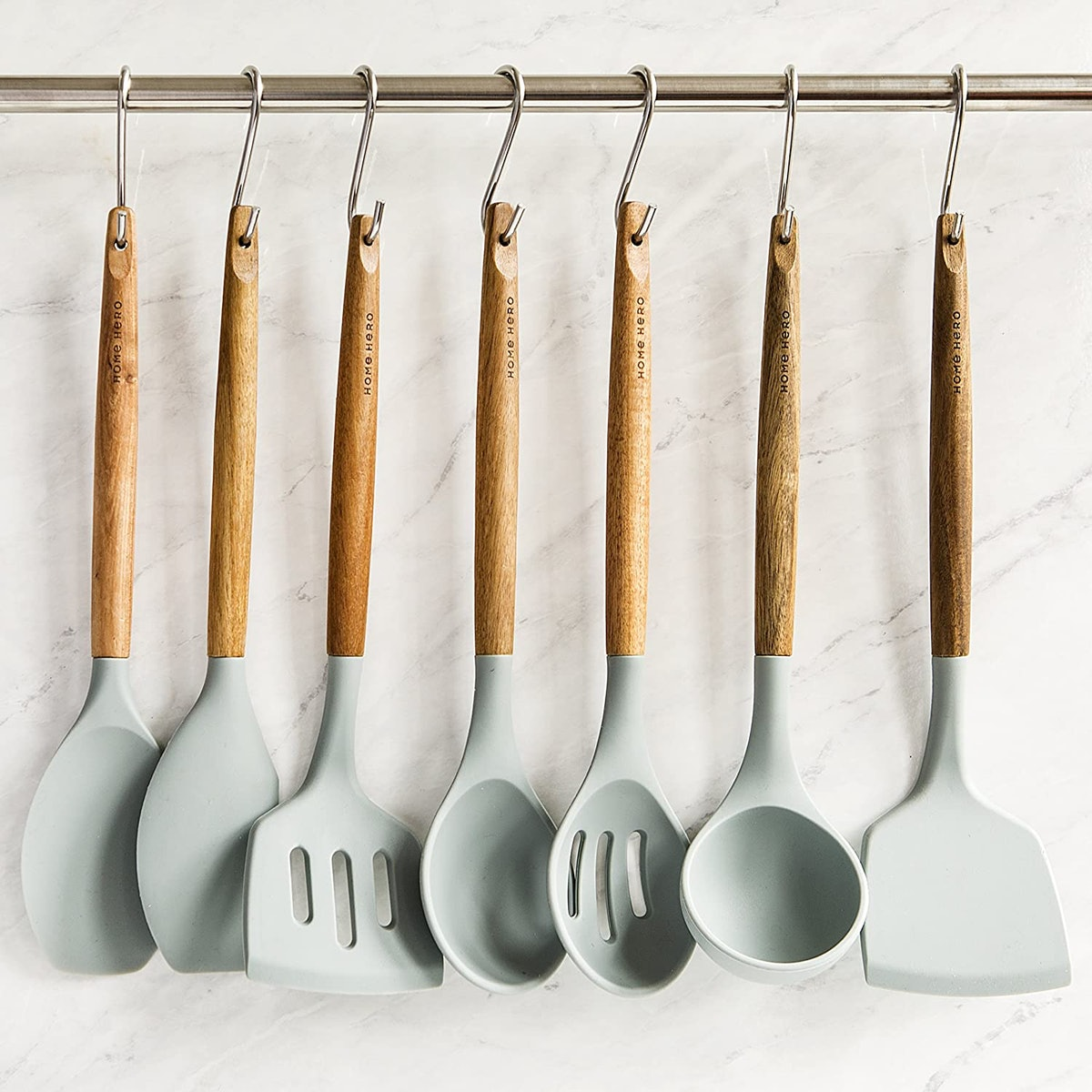 Home Hero Silicone Cooking Utensil Set (8 Pieces)