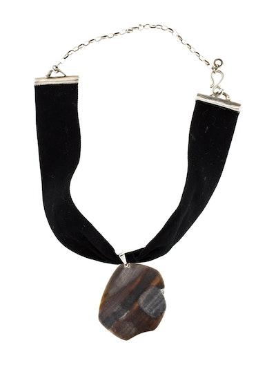 Petrified Wood Choker Necklace