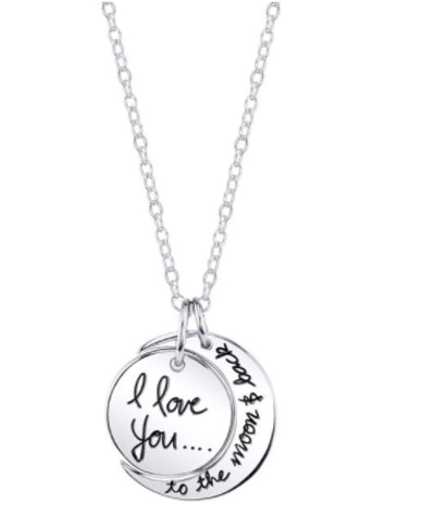 """Believe by Brilliance """"I Love You to the Moon & Back"""" Pendant Necklace"""