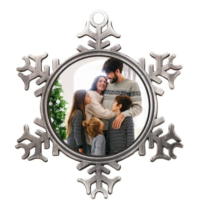 Metal Snowflake Photo Ornament