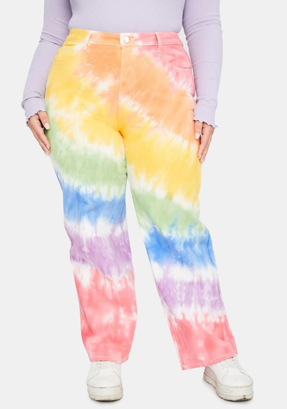 Her Jolly Happy Soul Tie Dye Jeans